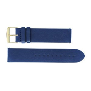 BRACELET-MONTRE-GUSTAVE-FRANCE-CUIR-BLEU-OR
